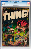 Golden Age (1938-1955):Horror, The Thing! #13 (Charlton, 1954) CGC FN 6.0 Cream to off-whitepages....