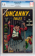 Golden Age (1938-1955):Horror, Uncanny Tales #14 (Atlas, 1953) CGC VF- 7.5 Cream to off-whitepages....
