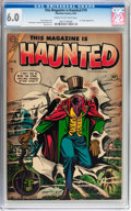Golden Age (1938-1955):Horror, This Magazine Is Haunted #19 (Charlton, 1954) CGC FN 6.0 Cream tooff-white pages....