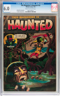 Golden Age (1938-1955):Horror, This Magazine Is Haunted #18 (Charlton, 1954) CGC FN 6.0 Cream tooff-white pages....