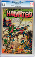 Golden Age (1938-1955):Horror, This Magazine Is Haunted #16 (Charlton, 1954) CGC VF+ 8.5 Cream tooff-white pages....