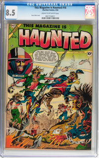 This Magazine Is Haunted #16 (Charlton, 1954) CGC VF+ 8.5 Cream to off-white pages