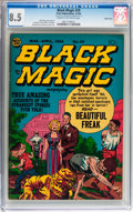 Golden Age (1938-1955):Horror, Black Magic #29 Triple Cover (Prize, 1954) CGC VF+ 8.5 Cream tooff-white pages....