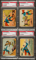 "Non-Sport Cards:Lots, 1940 Gum Inc. ""Superman"" PSA Graded Group (4). ..."
