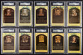 Autographs:Sports Cards, Signed Baseball Greats Hall of Fame Plaque Postcards PSA-DNACollection (10). ...