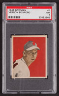 Baseball Cards:Singles (1940-1949), 1949 Bowman Vernon Bickford #1 PSA NM 7....