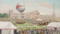 Sydney A. Court (British, 20th Century): The Re-Opening of the Alexandra Palace, Easter Monday<
