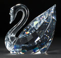Decorative Arts, Continental:Other , A SWAROVSKI CRYSTAL MAXI SWAN IN BOX WITH CERTIFICATE . Late 20thcentury. Marks: (swan) © SWAROVSKI. 6-1/4 inches high ...(Total: 5 Items)