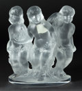 Art Glass:Lalique, A LALIQUE GLASS FIGURAL GROUP: THREE CHERUBS . Late 20thcentury. Marks: Lalique ® France. 7-3/4 inches high (19...