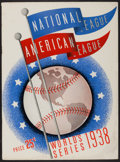 Baseball Collectibles:Programs, 1938 World Series Program (unscored) - New York Yankees Vs. Chicago Cubs. ...