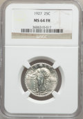 Standing Liberty Quarters: , 1927 25C MS64 Full Head NGC. NGC Census: (173/95). PCGS Population(219/168). Mintage: 11,912,000. Numismedia Wsl. Price fo...