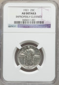 Standing Liberty Quarters: , 1921 25C -- Improperly Cleaned -- NGC Details. AU. NGC Census:(11/418). PCGS Population (37/561). Mintage: 1,916,000. Numi...