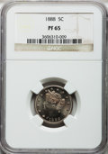 Proof Liberty Nickels: , 1888 5C PR65 NGC. NGC Census: (250/98). PCGS Population (182/76).Mintage: 4,582. Numismedia Wsl. Price for problem free NG...