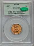 Indian Cents: , 1893 1C MS65 Red PCGS. CAC. PCGS Population (80/24). NGC Census:(146/50). Mintage: 46,642,196. Numismedia Wsl. Price for p...