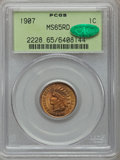 Indian Cents: , 1907 1C MS65 Red PCGS. CAC. PCGS Population (189/35). NGC Census:(188/28). Mintage: 108,138,616. Numismedia Wsl. Price for...