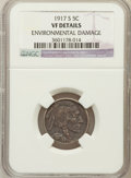 Buffalo Nickels, 1917-S 5C -- Environmental Damage -- NGC Details. VF. NGC Census:(17/543). PCGS Population (20/737). Mintage: 4,193,00...