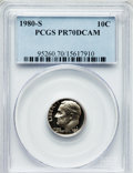 Proof Roosevelt Dimes: , 1980-S 10C PR70 Deep Cameo PCGS. PCGS Population (296). NGC Census:(70). Numismedia Wsl. Price for problem free NGC/PCGS ...