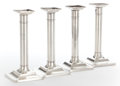 Silver & Vertu:Hollowware, A SET OF FOUR TIFFANY & CO SILVER CANDLESTICKS . Circa 1906. Marks: TIFFANY & CO, 15893 B1 MAKERS 7116, STERLING SILVER 92... (Total: 4 Items)
