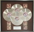 Music Memorabilia:Awards, Led Zeppelin In Through the Out Door RIAA Quadruple PlatinumAward (Swan Song 16002, 1979). ...