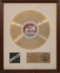 Music Memorabilia:Awards, Bad Company RIAA Gold Record Award (Swan Song 8410,1974)....