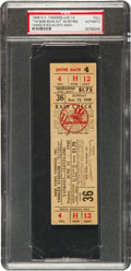 "Baseball Collectibles:Tickets, 1948 ""The Babe Bows Out"" Full Ticket from Ruth's Final YankeeStadium Appearance...."