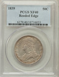 Reeded Edge Half Dollars: , 1839 50C XF40 PCGS. PCGS Population (37/338). NGC Census: (18/319).Mintage: 1,392,976. Numismedia Wsl. Price for problem f...