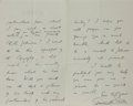 Autographs:Authors, Edmund Gosse, British Poet. Autograph Letter Signed. Very good....