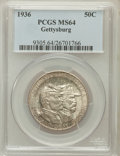 Commemorative Silver: , 1936 50C Gettysburg MS64 PCGS. PCGS Population (1970/2282). NGCCensus: (1191/1614). Mintage: 26,928. Numismedia Wsl. Price...