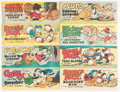 Premiums:Comic, Wheaties Premiums B-1 through B-8 Group (Walt Disney Productions,1950) Condition: Average VF.... (Total: 8 Comic Books)