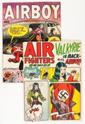 Golden Age (1938-1955):War, Air Fighters Related Group (Hillman Fall, 1940s).... (Total: 2Comic Books)