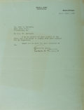Autographs:Authors, Edgar A. Guest, British-American Writer. Typed Letter Signed. Very good....