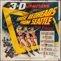 "Those Redheads from Seattle (Paramount, 1953). Six Sheet (78"" X 78""). Musical"