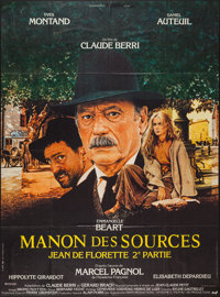 """Manon of the Spring (AMF, 1986). French Grande (45.5"""" X 61.5""""). Drama"""