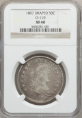 Early Half Dollars, 1807 50C Draped Bust XF40 NGC. O-110, R.2....