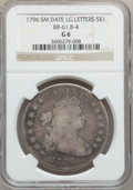 Early Dollars, 1796 $1 Small Date, Large Letters Good 6 NGC. B-4, BB-61, R.3....