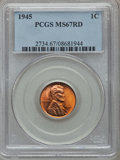 Lincoln Cents, 1945 1C MS67 Red PCGS....