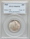 Standing Liberty Quarters: , 1925 25C MS65 Full Head PCGS. PCGS Population (144/56). NGC Census:(85/48). Mintage: 12,280,000. Numismedia Wsl. Price for...