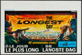 "Movie Posters:War, The Longest Day (20th Century Fox, 1962). Belgian (14"" X 21.5"").War.. ..."