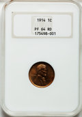 Proof Lincoln Cents, 1914 1C PR64 Red NGC....