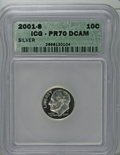 Proof Roosevelt Dimes: , 2001-S 10C Silver PR70 Deep Cameo ICG. PCGS Population (62/0).Numismedia Wsl. Price: $160. (#95293)...
