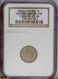 Civil War Patriotics: , 1863 Army & Navy--Obverse Lamination--MS63 Brown NGC.Fuld-13/297A....