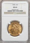 Liberty Eagles, 1905 $10 MS64 NGC....