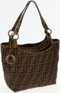 Luxury Accessories:Bags, Fendi Classic Zucca Monogram Canvas Tote Bag. ...