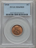 Lincoln Cents: , 1910 1C MS65 Red PCGS. PCGS Population (392/159). NGC Census:(302/192). Mintage: 146,801,216. Numismedia Wsl. Price for pr...