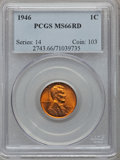 Lincoln Cents: , 1946 1C MS66 Red PCGS. PCGS Population (448/7). NGC Census:(1324/68). Mintage: 991,654,976. Numismedia Wsl. Price for prob...