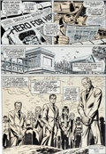 Original Comic Art:Panel Pages, Gil Kane and John Romita Sr. Amazing Spider-Man #123 Gwen Stacy Funeral Page 5 Original Art (Marvel, 1973)....