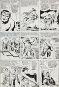 Original Comic Art:Panel Pages, Jack Kirby and Paul Reinman The Avengers #3 Incredible HulkPage 6 Original Art (Marvel, 1964)....