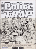 "Original Comic Art:Covers, Jack Kirby and Joe Simon Police Trap #2 ""Muster Room"" CoverOriginal Art (Mainline Publications, 1954).... (Total: 2 Items)"