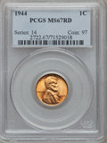 Lincoln Cents: , 1944 1C MS67 Red PCGS. PCGS Population (209/0). NGC Census:(906/0). Mintage: 1,435,399,936. Numismedia Wsl. Price for prob...