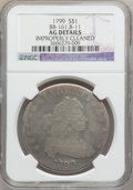 Early Dollars, 1799 $1 7x6 Stars -- Improperly Cleaned -- NGC Details. AG. BB-161,B-11. NGC Census: (0/1700). PCGS Population (7/2670). M...